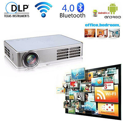 6000Lumens Android Wifi HD 1080P 4K Home Theater Projector Smart Multimedia HMDI