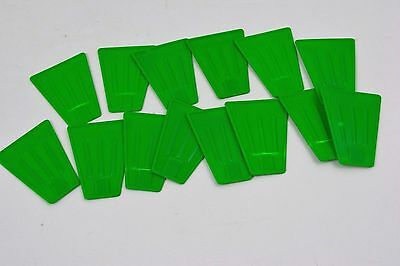Plastic Tinker Toys Parts Lot 14 GREEN FANS BLADES Replacement Tinkertoy Pieces