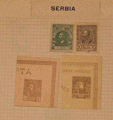 Serbia - 4 Early Cut Squares - Mint / Used -  Lot 061316