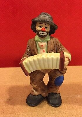 "Emmett Kelly Jr Flambro  Collection  3.5"" Accordian Player"