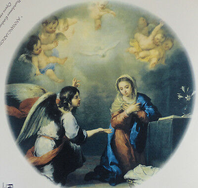 Ceramic Decal   -  THE ANNUNCIATION      190mm   diam.