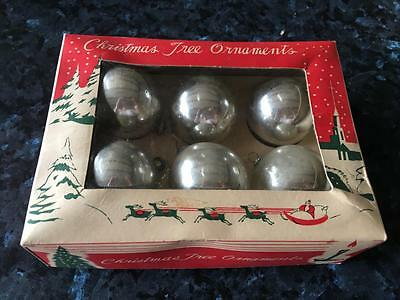 Vintage Christmas Tree Decorations/  Baubles  In Box - Ornaments/decorations