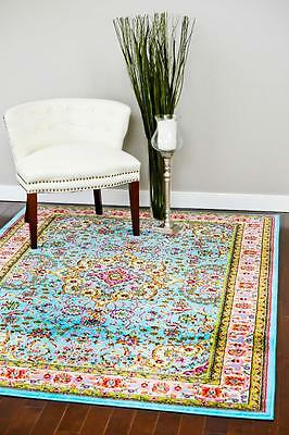 10015 Blue Oriental Traditional Large Area Rug Carpet