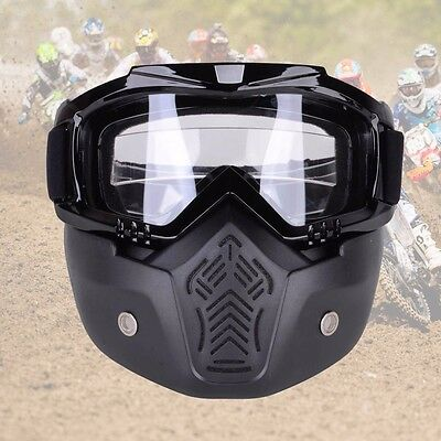 Detachable Modular Motorcycle Bike Riding Helmet Face Mask Helmet Goggles Shield