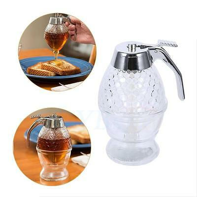 Honey Syrup Dispenser Container Home Kitchen Storage With Stand Xams Decorative