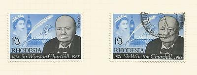 Rhodesia, 1965, Churchill, Sg 35, Mnh And  Used (2)