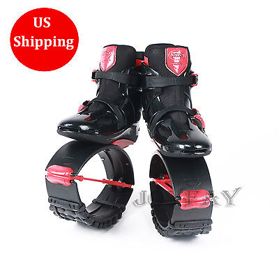 Kangaroo Jumps Black Red Fitness Shoes Jumping Shoes Fitness Bounce Shoes XL XXL