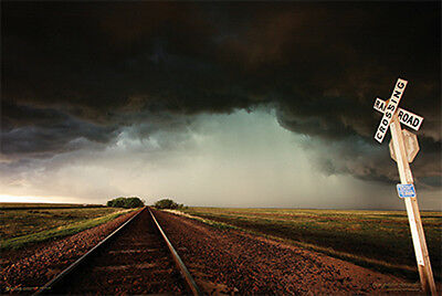 (Laminated) Storm Tracks Poster (91X61Cm)  Picture Print New Art