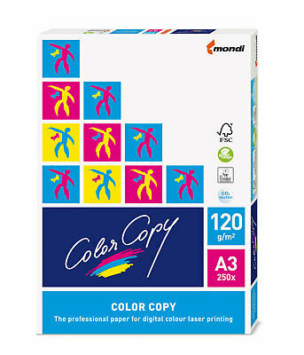 Color Copy Copy Paper A3 120gsm 250 Ream Pack - White