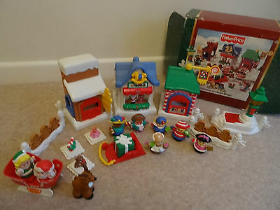 Fisher-Price Little People Christmas On Main Street plus Sleigh and extra Figure