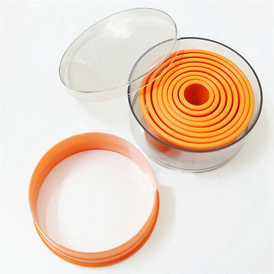 Flat Edge Round Circle Shape PP Plastic Fondant Cookie Biscuit Dough Cutter Mold