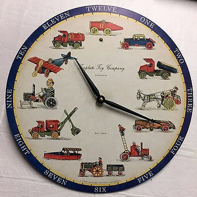 TINPLATE TOY COMPANY TIMEWORKS STORYTIME  Wall Clock