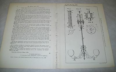 Chandeliers Patent. Riley, Stockport. 1898.