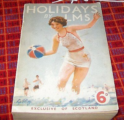 Holidays By Lms. Official Illustrated Guide.1938. Excluding Scotland