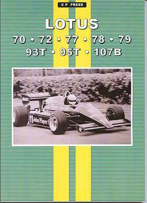Lotus 70 72 77 78 79 93T 95T 107B  Magazine Reprints Cp Press