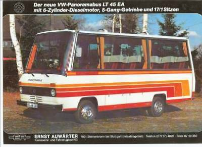 Vw Lt 45 Ea / Auwater Panoramabus Specification