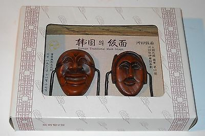 Korean Traditional Mask Image in Frame Yangban Mask Bune Mask