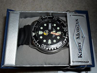 Kirby Morgan Professional Divers Watch 1000m Rated c/w Helium Relief Valve