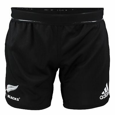 adidas Mens Gents Rugby New Zealand All Blacks Home Shorts Bottoms - Black