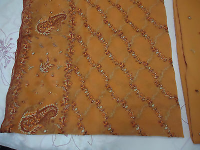 embroidered partywear asian indian shalwar kamez pakistani unstitched suit