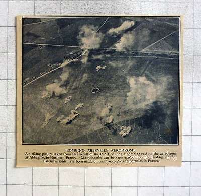 1940 Striking Picture During Bombing Raid On The Aerodrome Abbeville