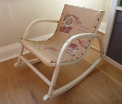 Vintage Wooden 'Humpty Dumpty' Children's Rocking Chair - Doll or Teddy Chair?