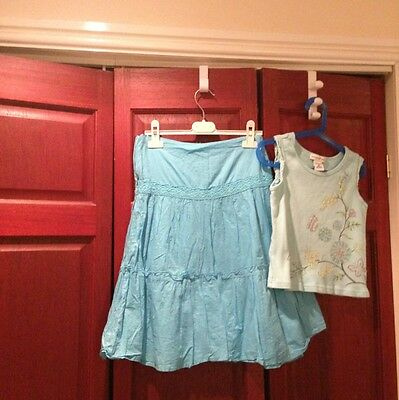 NEW PRICE! Girls Maggie & Zoe Outfit In Tourquoise Skirt & Vest top Set Size 10
