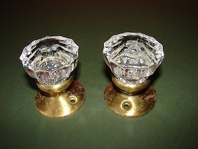 Pair of Vintage Brass Door Knobs