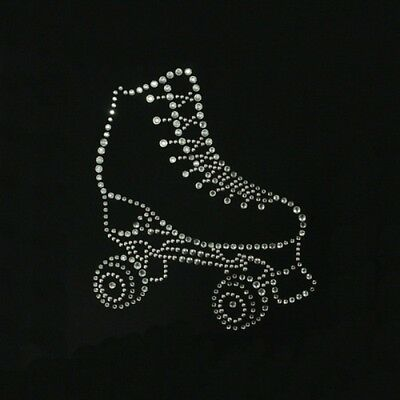 Artistic Roller Skate Motif In Crystals  And Rhinestones,  Jacket T-Shirts