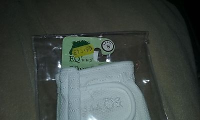 Eqvvs Competition riding gloves white size small