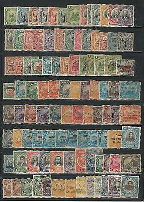 Nicaragua: Lot of 100 diff. stamps between year 1911-1921, hinged, used. NI16