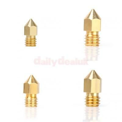 4x 0.2/0.3/0.4/0.5mm Extruder Nozzle Print Kit for Consumable MK8 3D Printer