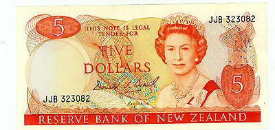 New Zealand … P-171c … 5 Dollars … ND(1989) … *XF+*
