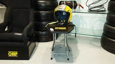 OMP Racing Helmet Folding Table Stand With Fan Power 220V Pit/Paddock