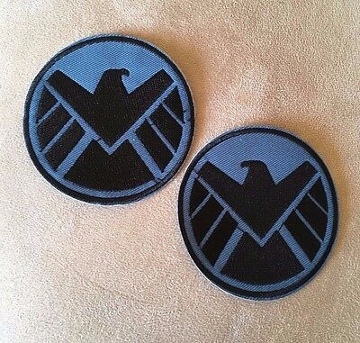 💥Set of 2 MARVEL COMICS Avengers Agents of SHIELD S.H.I.E.L.D Iron-on PATCHES!
