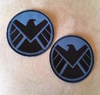 Set of 2 MARVEL COMICS Avengers Agents of SHIELD S.H.I.E.L.D Iron-on PATCHES!
