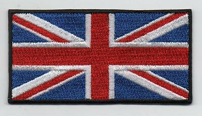 """Embroidered Union Jack GB 3"""" Flag Iron on Sew on Patch Badge HIGH QUALITY"""
