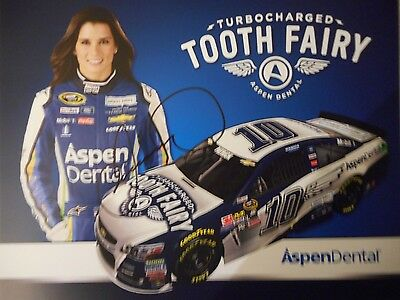 Danica Patrick signed 2016 #10 ASPEN TURBO TOOTH *FAIRY* Chevy SS 8x10 Hero Card