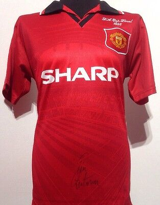 Manchester United 1996 FA Cup Shirt Signed By Eric Cantona With Guarantee