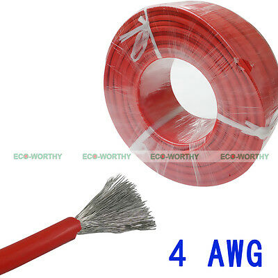 9.84ft Red Copper Welding Cable  Connecting Electrical For Home & Industrial