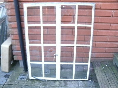 ANTIQUE WINDOWS- NL2- RARE 1930s COMPLETE DOUBLE CRITTALL WINDOW - 100 x 120 CMS