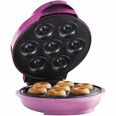 Machine Automatic Nonstick Electric Mini Donut Maker Baking Griddle Toaster Cake