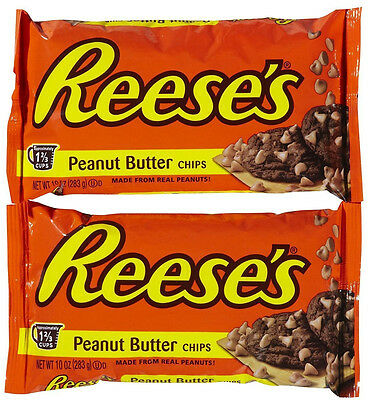 Reeses Peanut Butter Baking Chips - Two 10 oz bags