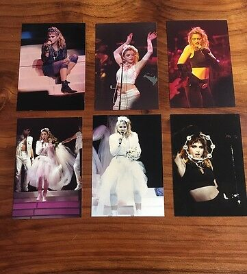 Madonna Lot of 6 Different 3 1/2 x 5 1/2 Glossy Candid Concert Photos