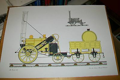The Rocket Steam Locomotive 1829 Print. From The Science Museum Collection