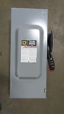 Used Square D H363N 100A Amp Fusible Safety Switch Disconnect 600V Series F05