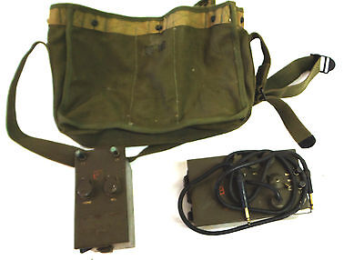 Vintage RM-52 RM-53 Radio Signal Corps in Original Bag USAF Military WWII