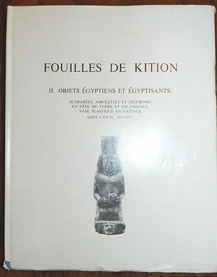 Fouilles De Kition Book Egypt and Egyptian Artifacts Volume 2 in French
