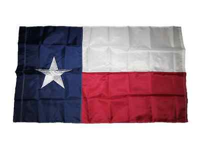3x5 Embroidered State of Texas Pole Sleeve 210D Nylon Flag 3'x5'
