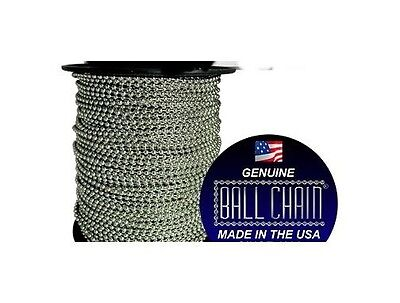 50 feet 304 STAINLESS STEEL BALL CHAIN  2.4mm bead #3 plus 50 connectors (50')
